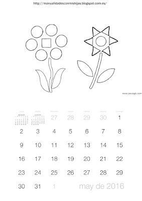 Calendario 2016 gomets mayo