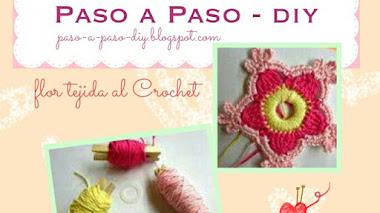 Flor tejida al Crochet - diy