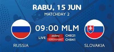 Live Streaming Keputusan Russia Vs Slovakia EURO 2016