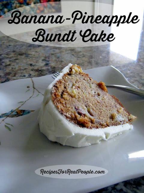 Banana-Pineapple Cake Recipe