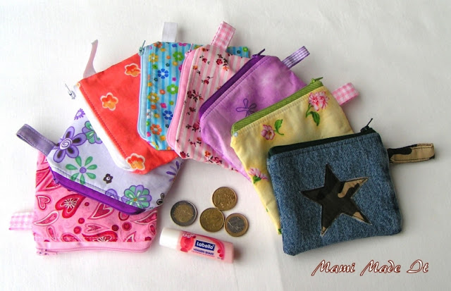 Small Zipper Purses - Minitäschchen