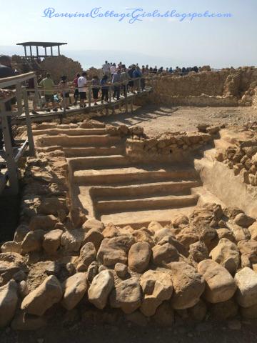 Photo of mikvah ritual bath in Qumran Israel