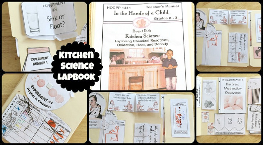 Kitchen Science Lapbook Review from School Time Snippets
