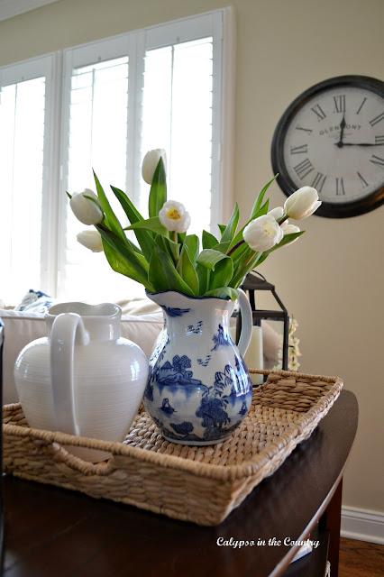 White tulips for spring
