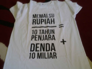 T shirt dari Bank Indonesia