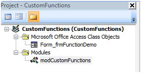 Microsoft Access Tips: Writing Custom Functions for Access VBA