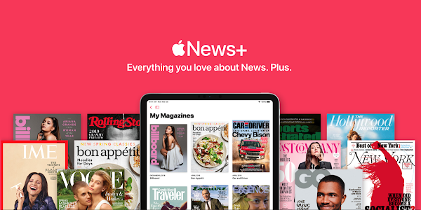 Apple News+ is a subscription service with 300+ magazines