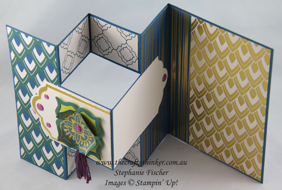 #crazycraftersbloghop, Annual Catalogue Sneak Peek, Eastern Beauty Suite, Trifold card, Fun Fold, #thecraftythinker, Stampin Up Australia Demonstrator, Stephanie Fischer, Sydney NSW