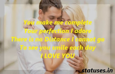 Romantic lovely Status for Husband