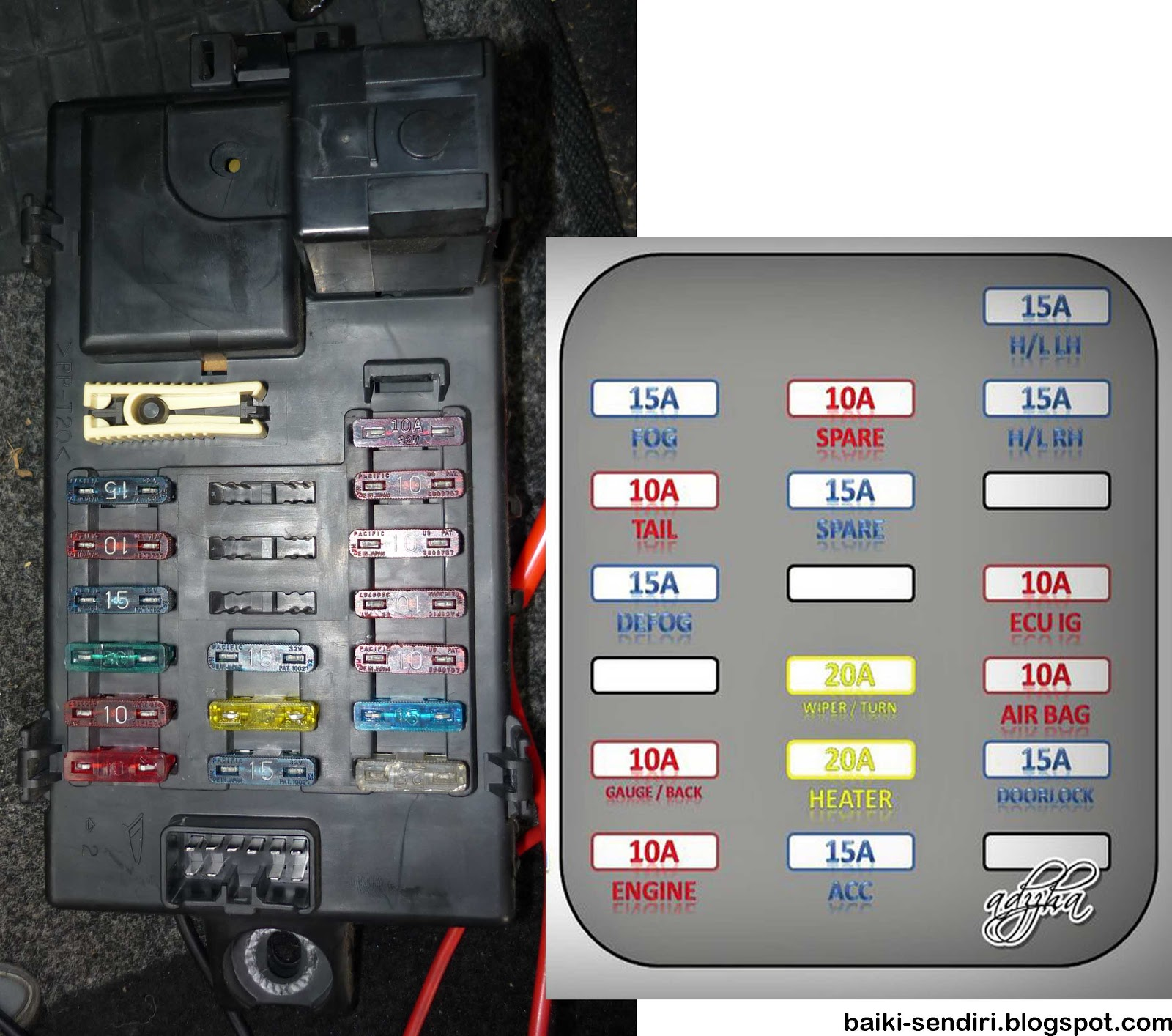 1997 Mazda 626 Front Fuse Box Diagram
