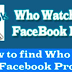 Can You Tell who Looks at Your Facebook Profile