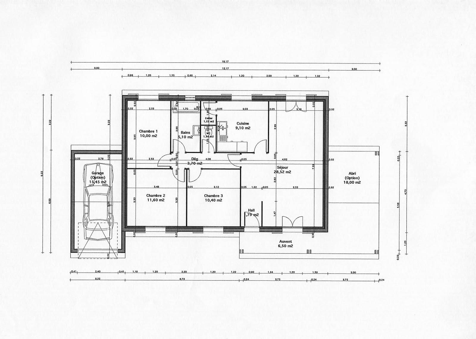 Moderne labastide beauvoir plan de construction de maison plan