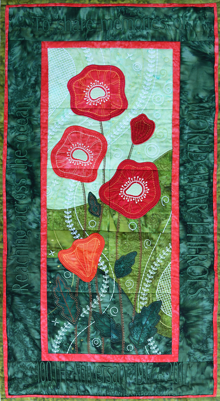 World War One In Delco Poppy Quilt A Gift From The Other Side Of