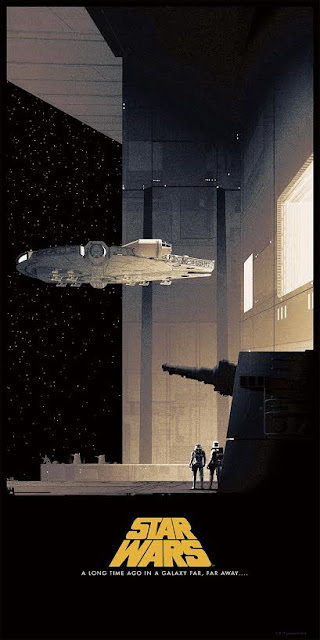 Star Wars Saga Original Trilogy Regular Edition Screen Print Triptych by Matt Ferguson & Bottleneck Gallery - A New Hope
