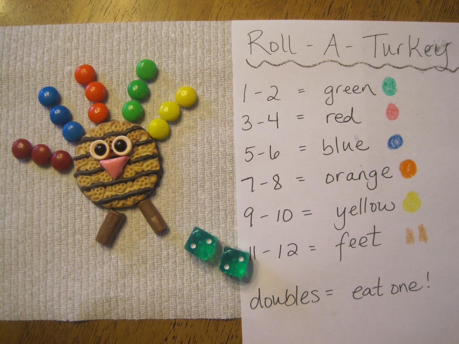 Savvy Spending Roll A Turkey Preschool Game Plus A Use