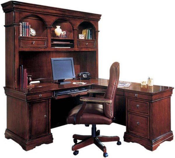 l shaped home office desks with hutch