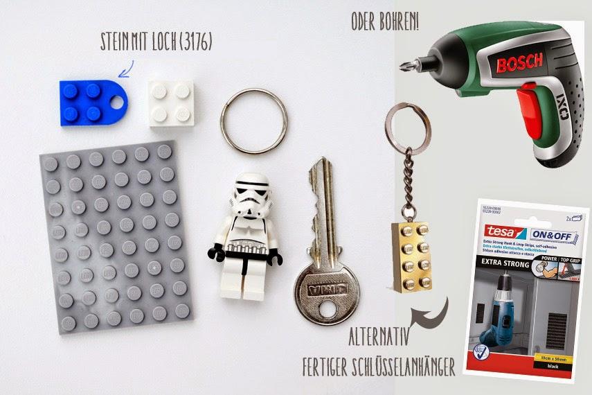 la reines blog schl sselbrett mit schl sselanh nger aus lego. Black Bedroom Furniture Sets. Home Design Ideas