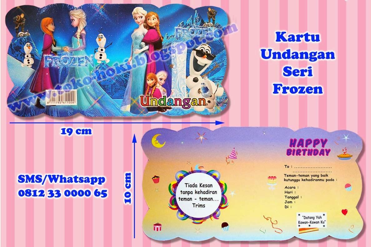 Undangan Ulang Tahun Anak Frozen Kata Kata Mutiara
