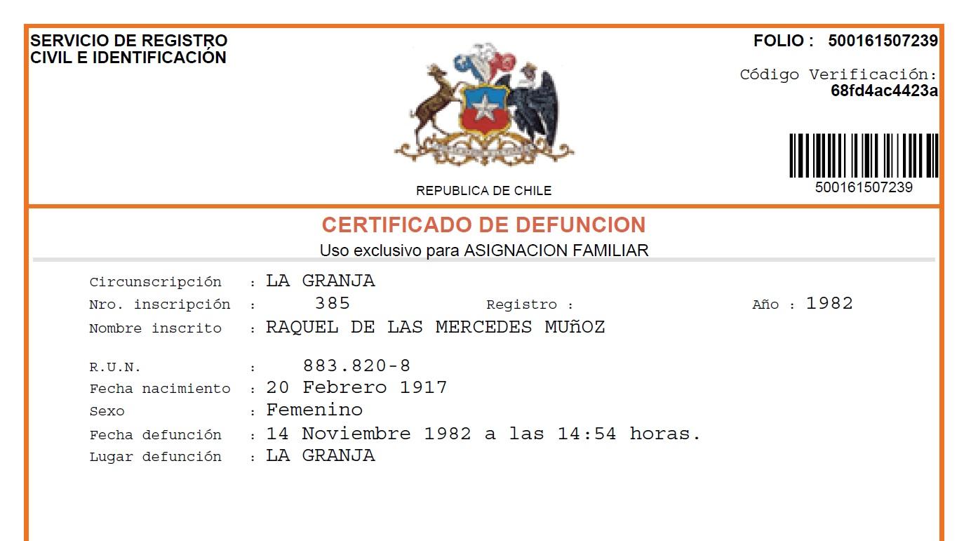 Genes de familia: Las cédulas de gabinete de Santiago... ¡son R. U. N.!