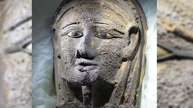 Εντυπωσιακή ανακάλυψη στην Αίγυπτο - Βρέθηκε επιχρυσωμένη μάσκα μούμιας αρχαιοελληνικής τεχνοτροπίας