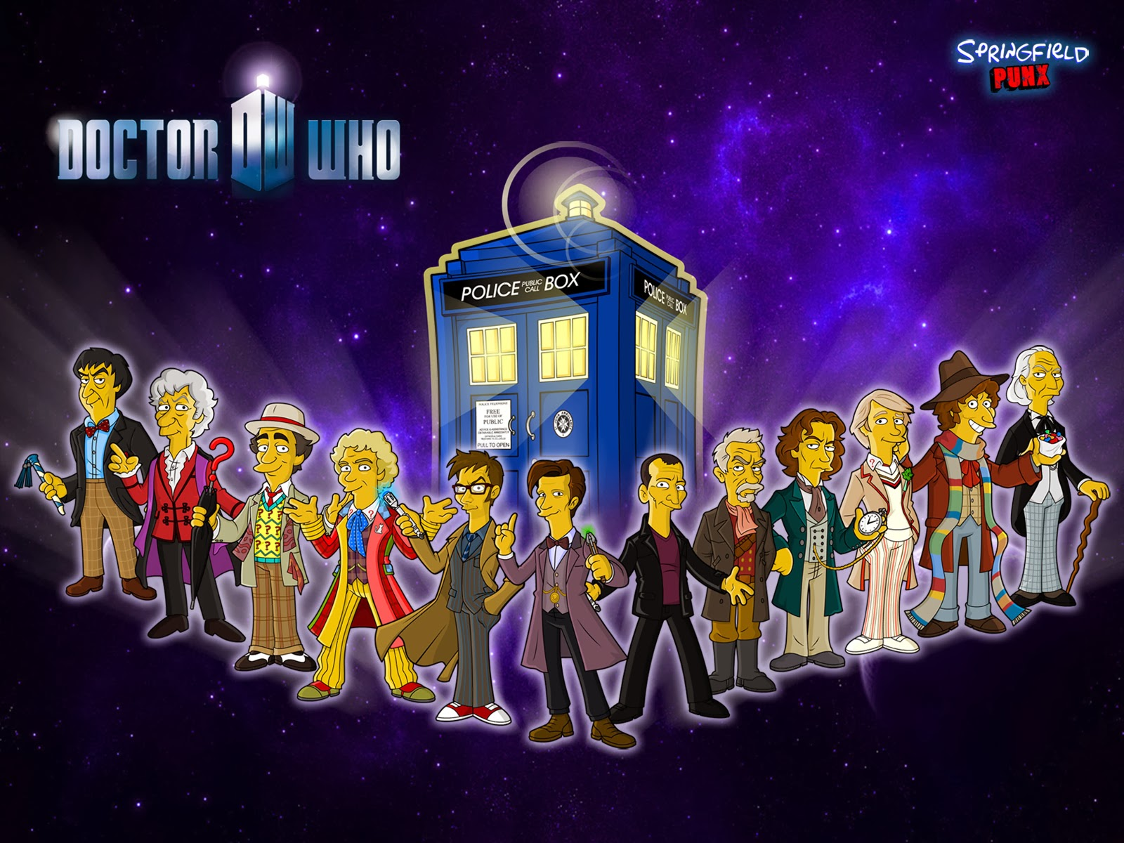 Springfield Punx New Doctor Who Wallpaper