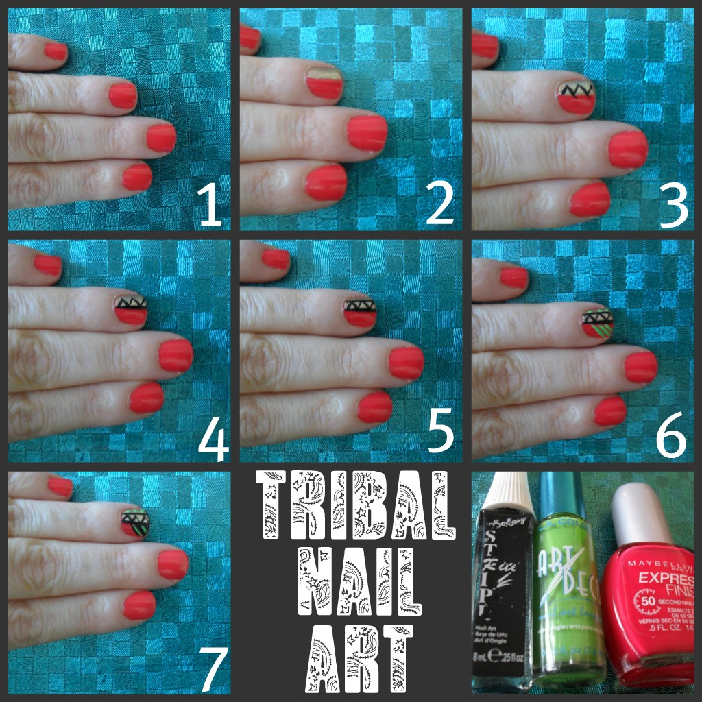 Tribal Nail Art: Amariebeauty: Tribal Nail Art