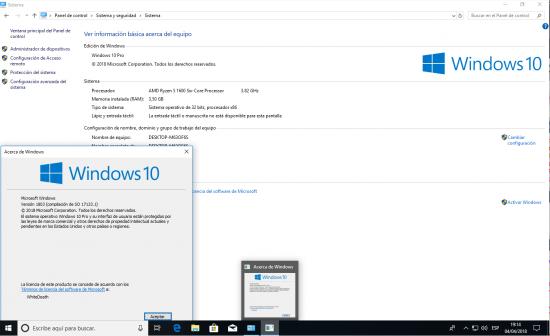 Windows 10 Spring Creators Update 17133.1