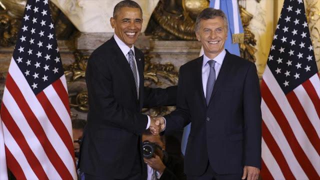 Obama alaba a Macri por dar nueva fuerza a economía argentina