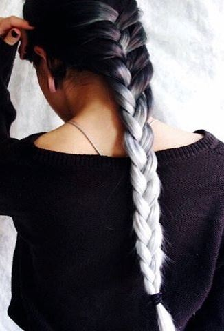 Ombre hairstyle idea