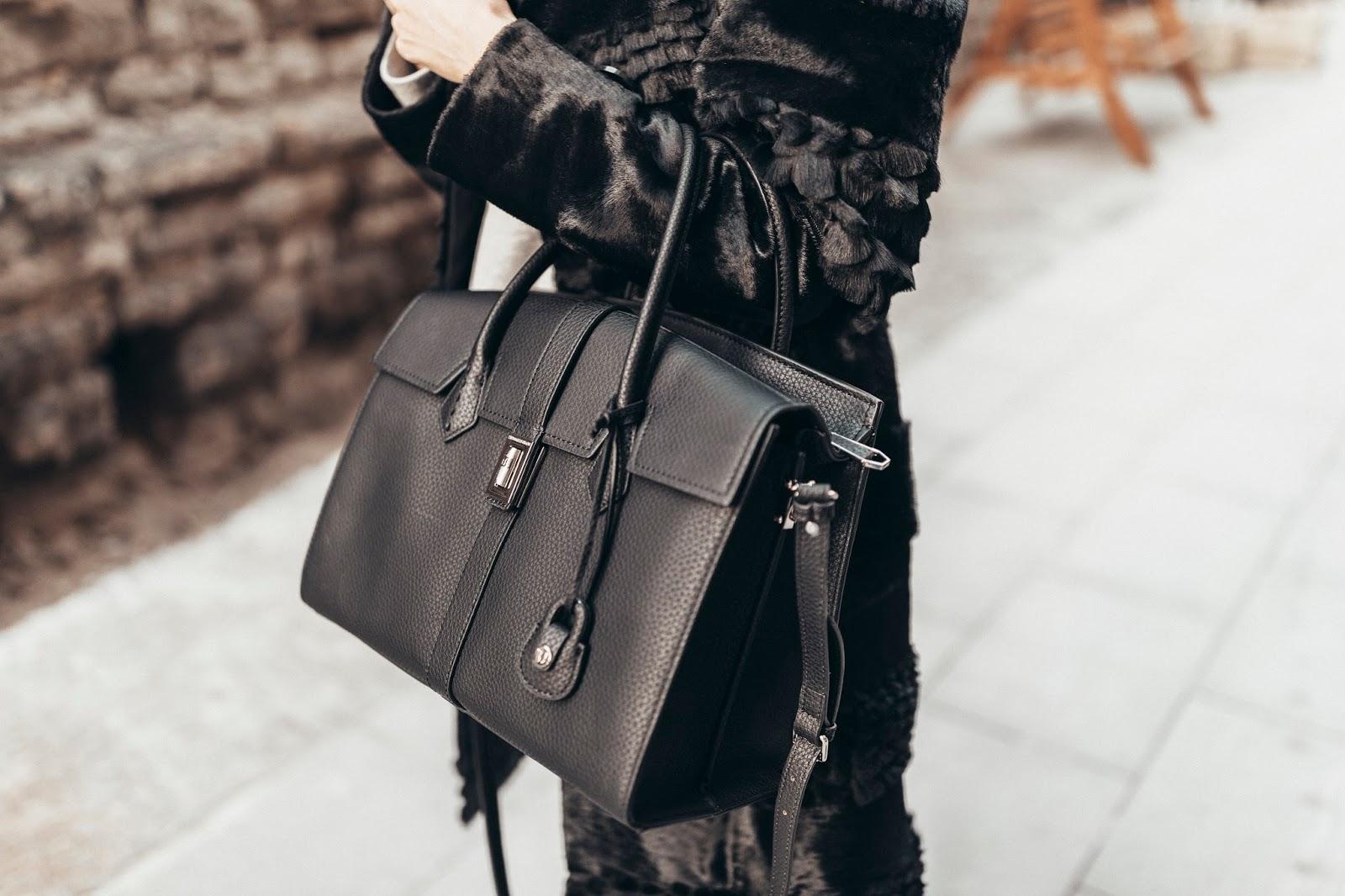 black trussardi jeans suzanne bag