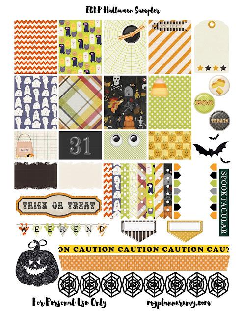 Free Printable Original Halloween Sampler for the Erin Condren Life Planner on myplannerenvy.com