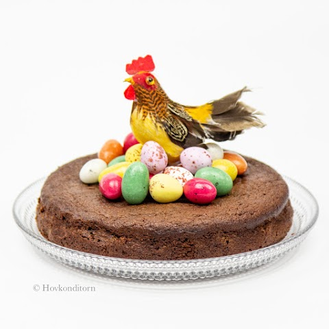 Easter Cake with Salted Caramel Chocolate Eggs