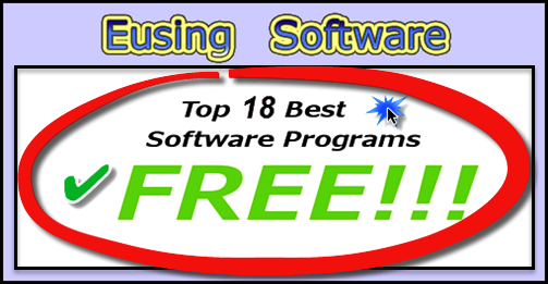 Eusing, Free Software Programs, Windows, Clean and Fast Pc