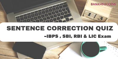 Error Correction Questions for Bank Exam