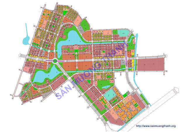 Bản đồ khu liền kề thanh hà - Mường Thanh