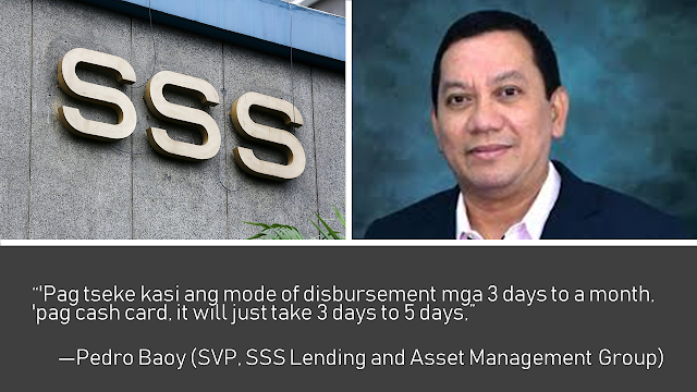 Are you a member of the Social Security System (SSS) and you want to avail a salary loan?  You may need to open a cash card account first. SSS is now urging members who want to avail the salary loan for certain branches.     Ads    The SSS is requiring its members to open a cash card account in a certain bank if they want to avail of the salary loan in several SSS offices.  Under the new system, the salary loan availed by the members will be credited and withdrawn from the cash card instead of SSS issuing cheques and have the members encash it from the bank.  Pedro Baoy, senior vice president of SSS Lending and Asset Management Group, explained that through this way, the loan process will be much quicker compared to the old system where the SSS issues cheques to the members.  The SSS spend P122 for every processing of cheques issued for salary loans. In the new system using cash cards, they only spend around P50 in using ATM cards. Through this new system, SSS can also save up to P11million  every month or over P130 million every year.    There are 20 SSS branches which require the members to open their cash card accounts to avail the salary loan including the big branches in Diliman, Makati, Cebu, Iloilo, and Davao. Other branches will eventually follow the same requirements.  The new system has earned various reactions from members. Others are in favor saying that it would be easier while others especially those who are not aware of the new system.   Ads          Sponsored Links    As of the moment, the members are advised to open their cash card accounts only at the UnionBank because its system is compatible with the computer system used by the SSS. this ensures that the bank can provide the service that the SSS needs.  Baoy also said that they will also talk to other banks where their members have bank accounts to have their loans deposited in their existing accounts.   In 2008, there was over P30 billion worth of salary loans being granted to 1.8 million members, about 9.22 percent or 166,000 of them claimed their loans using cash cards. Now, in the new system, the majority of the members are expected to claim their loans through their ATM cards