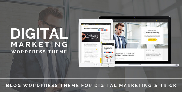 Free Download Digital Marketing V1.0 Blog WordPress Theme