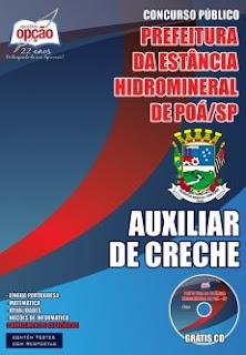 Apostila Prefeitura de Poá-SP - Auxiliar de Creche