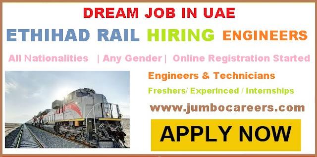 Etihad Rail project 2018 Diploma Technician jobs