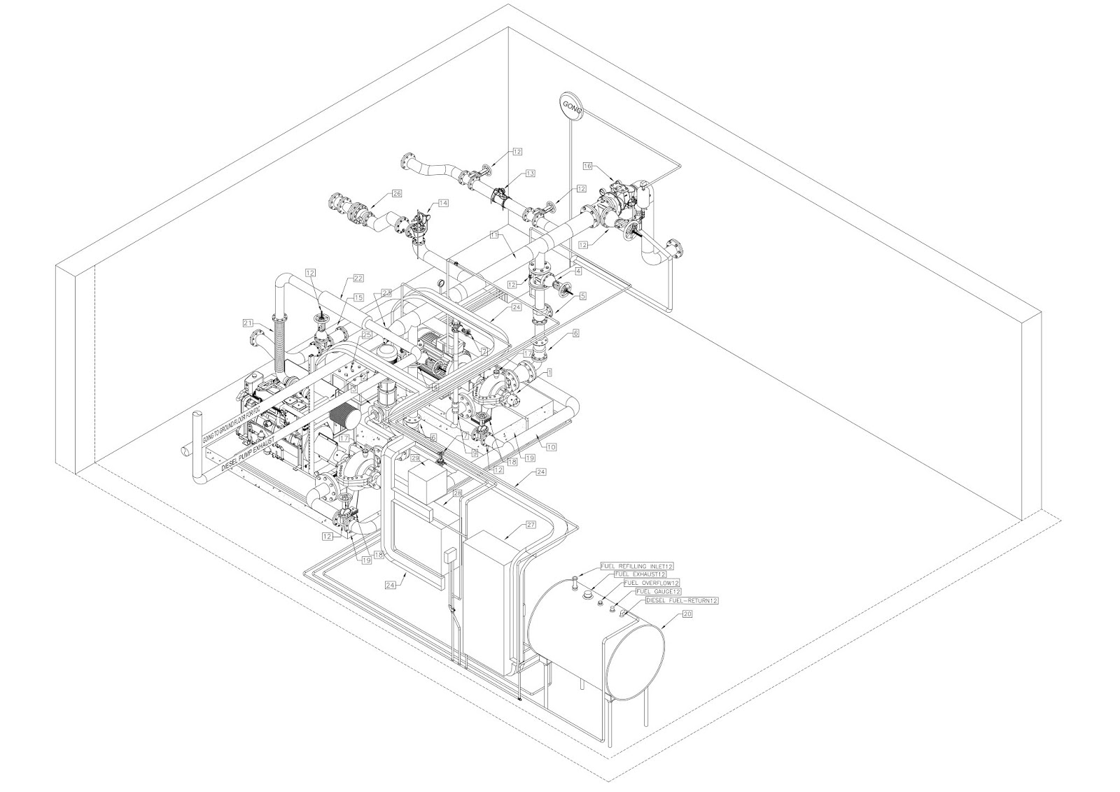 Fire Fighting Pump Room Drawings - CAD Needs
