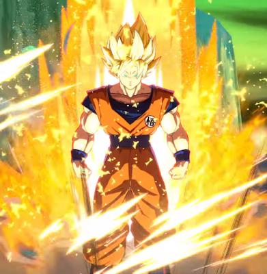 "Goku en ""Dragon Ball FighterZ""."