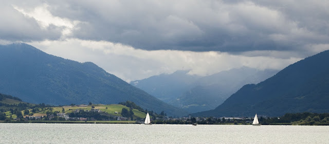 Sailboats on Lake Zurich on a half-day trip to Rapperswil