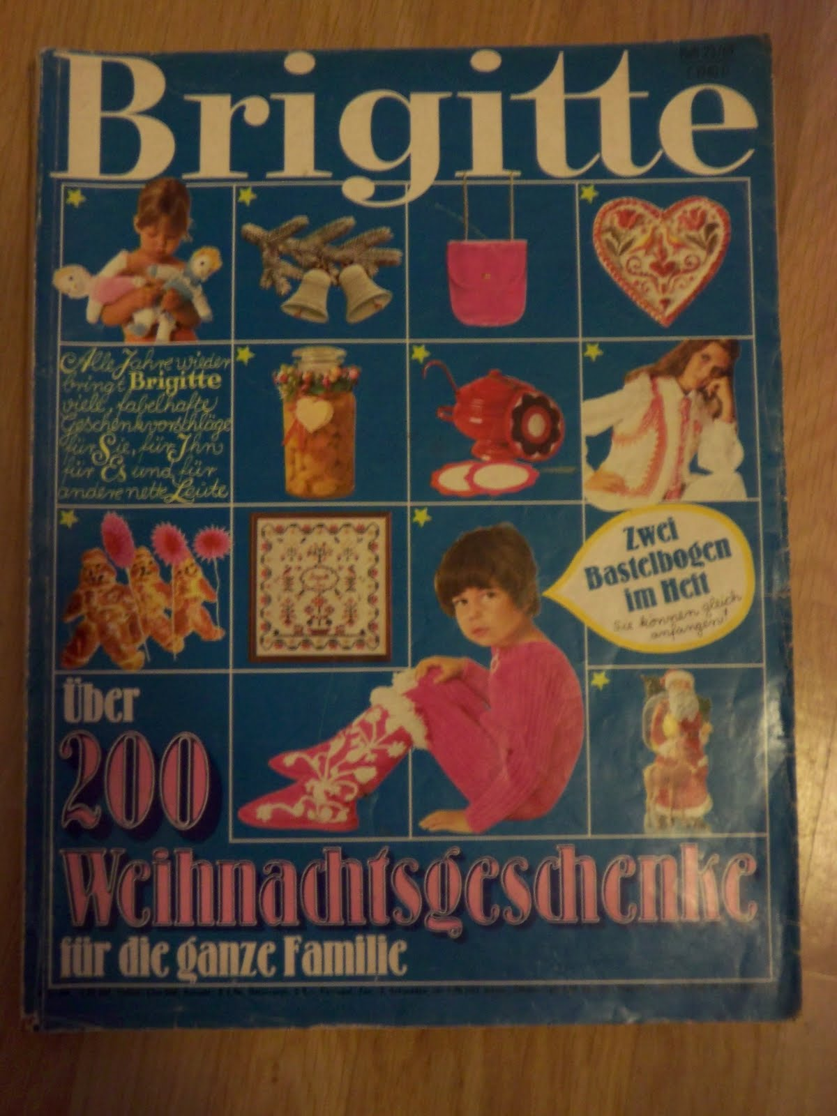 Brigitte Weihnachtsgeschenke.Rose Und Lavendel Vintage Weihnachtsgeschenke Anno 1969