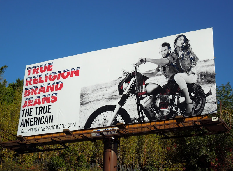 True Religion True American billboard
