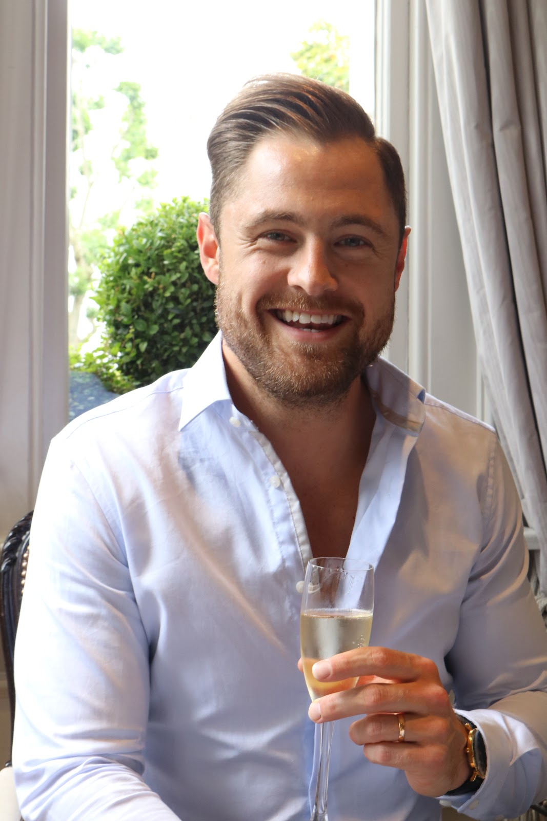 Ben Heath, Twenty First Century Gent, at Afternoon Tea, The Town House, The Kensington Hotel, Kensington, Chelsea, London