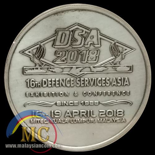 Medallion 30 Tahun Defence Services Asia (DSA) 2018 - Malaysian Coin