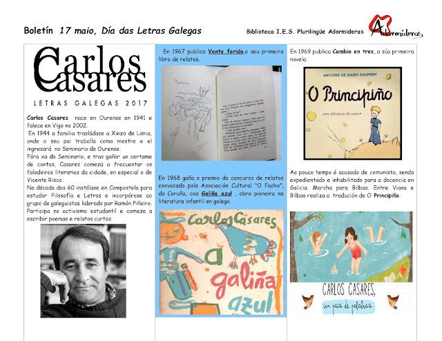 CARLOS CASARES, DÍA DAS LETRAS GALEGAS 2017