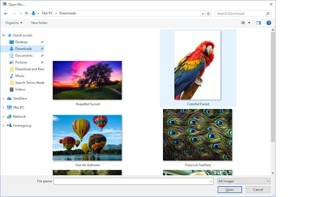 PhotoPad - Photo Editor - Image Selection Screen