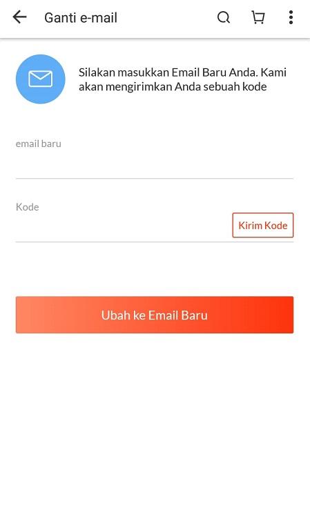 ganti email lazada