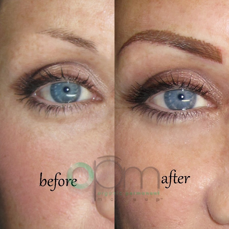 semi permanent eyebrows before and after | organic permanent makeup